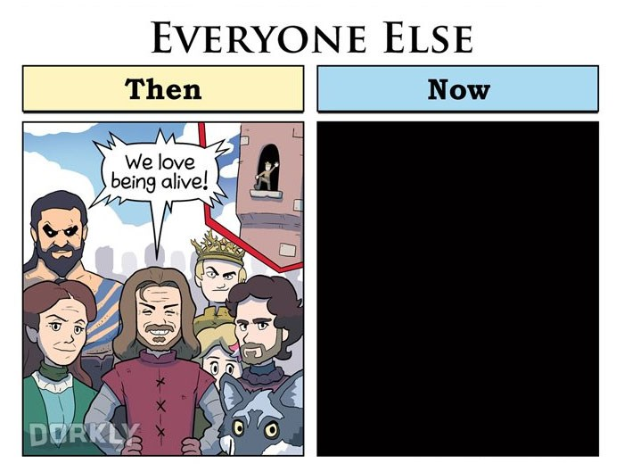 How Game Of Thrones Characters Have Changed From Season 1 To Now in a webcomic series by George Rottkamp