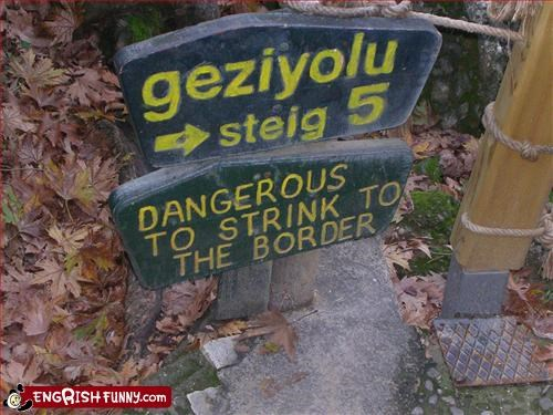 border dangerous g rated signs - 2972375552