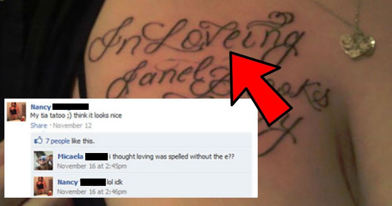 Idiots that got destroyed on Facebook for sharing stupid tattoos.