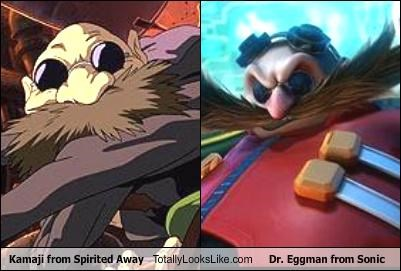 animation cartoons dr-eggman kamaji movies sonic the hedgehog spirited away