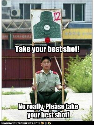 Take your best shot! No really, Please take your best shot!