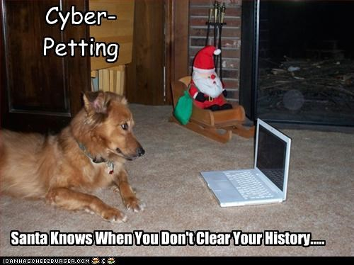 Cyber-Petting Santa Knows When You Don't Clear Your History.....