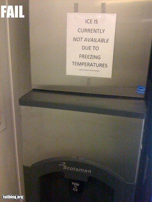 broken freezing g rated hotel ice irony machine signs - 2979549952