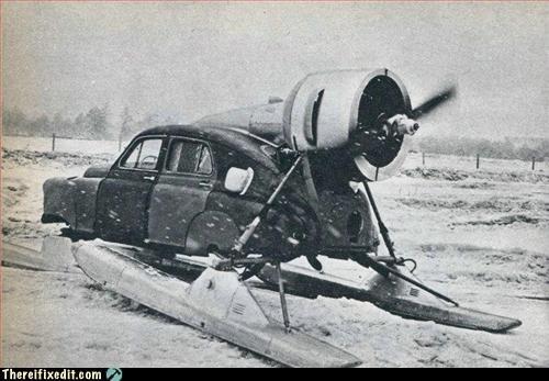 car mod snow vintage VW bug - 2980350720