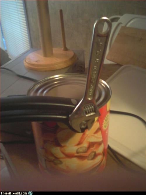 can opener,kitchen utensil,Mission Improbable,nacho cheese