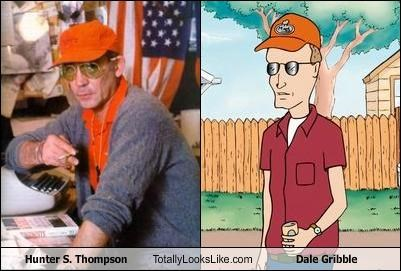 animation,authors,cartoons,dale gribble,Hunter S Thompson,King of the hill