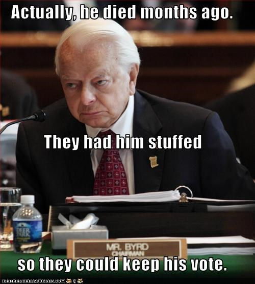 die,old man,robert byrd,senator,United States Senate,vote