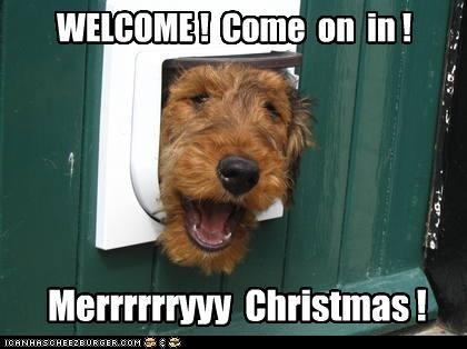 WELCOME ! Come on in ! Merrrrrryyy Christmas !