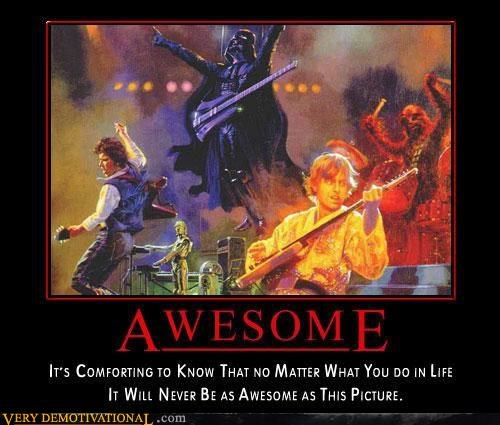awesome Pure Awesome rock-roll star wars - 2986840064