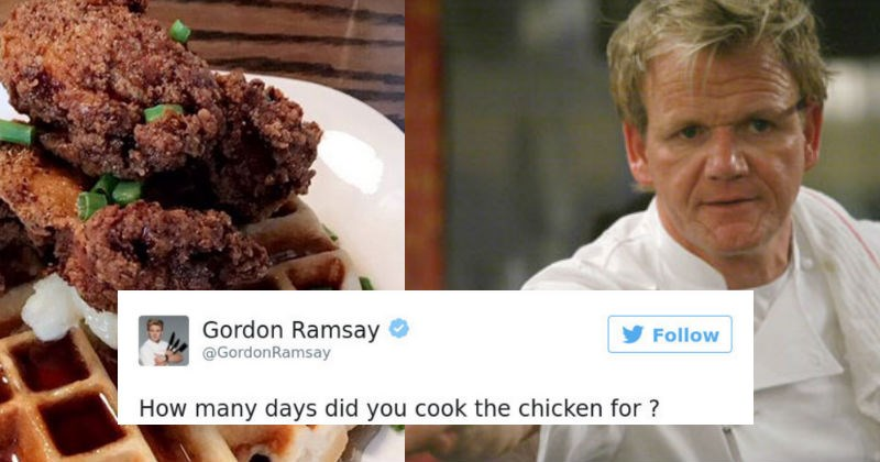 Collection of times that famous chef, Gordon Ramsay, brutally insulted people on Twitter.