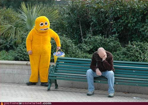 bench,costume,depressed?,wtf