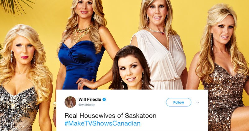 People on Twitter decide to make TV shows Canadian and these are hilarious.