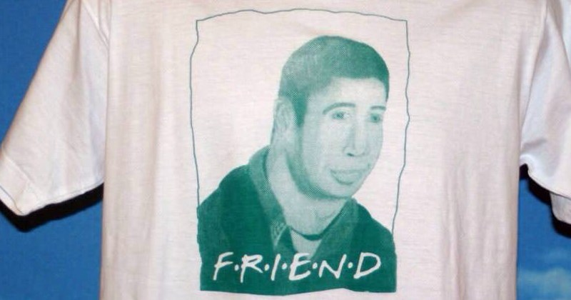 bootleg products, friends shirt with ross