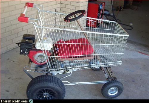 mod,motor,shopping cart,steering wheel