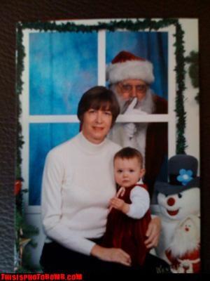 Awkward christmas creepy santa shhh wtf - 2993553664