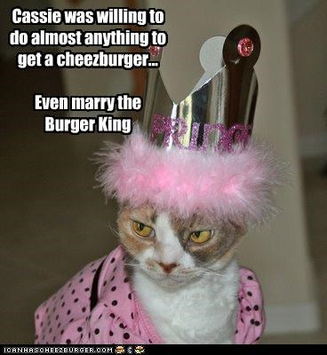 burger king,cheezburger,crown,marriage,queen,want