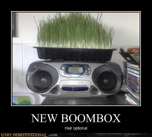 hair optional boombox