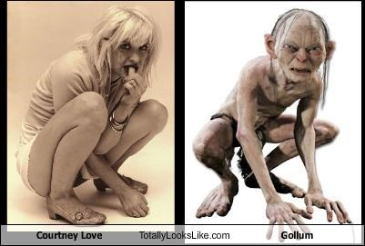 courtney love,gollum,Hall of Fame,Lord of the Rings,musician
