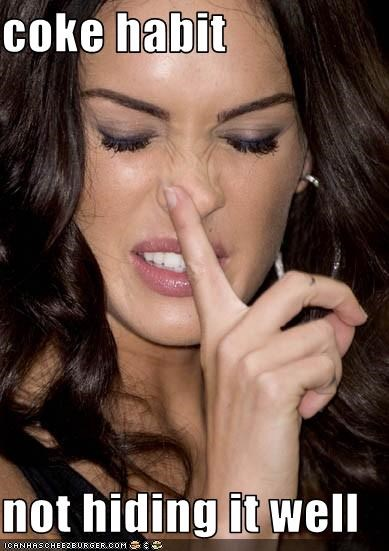 boogers drugs megan fox nose - 2996471808