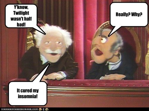 jokes,sleep,Statler and Waldorf,the muppets,twilight
