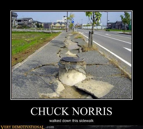amazing broken Chuck crushed norris Pure Awesome sidewalk