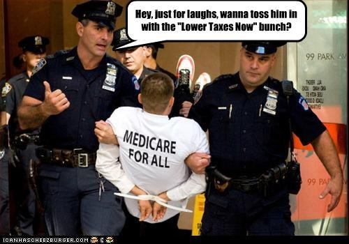 arrested health care police protesters taxes - 3002564096