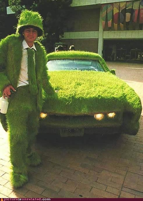 costume,eco friendly,grass,transportation,wtf