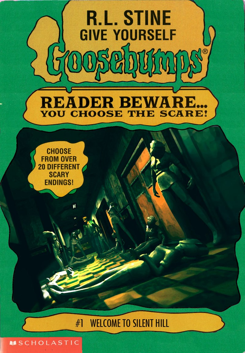 rl stine,list,goosebumps,video games