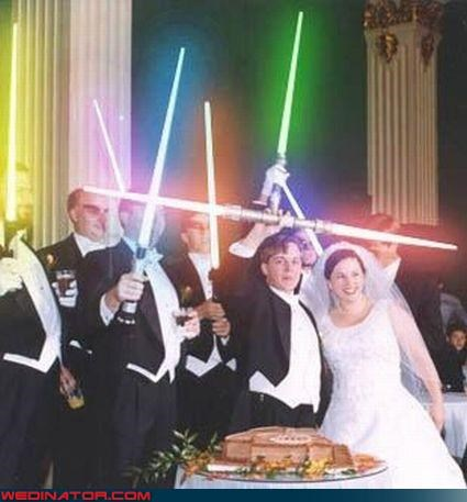 bride darth vader fashion is my passion groom Groomsmen Jedi Knights light saber star wars were-in-love Wedding Themes - 3003389184