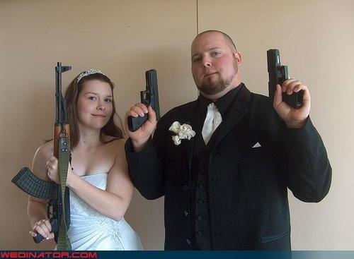 Bling bride bridesmaids fashion is my passion gangsta groom gun pinstripe suit were-in-love Wedding Themes - 3003392256