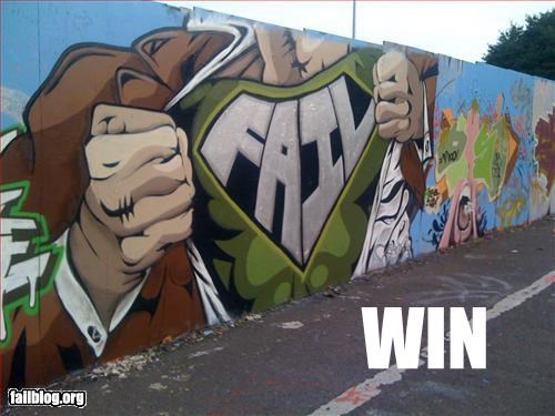 epic,graffiti,g rated,spray paint,superman,win