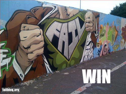 epic graffiti g rated spray paint superman win - 3003687680