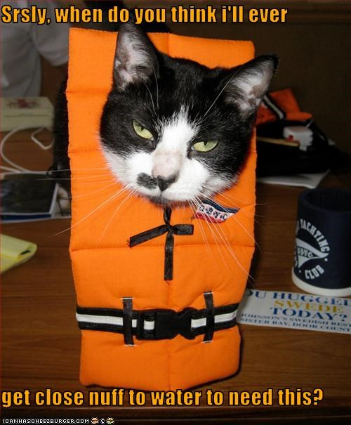 angry costume do not want lifejacket