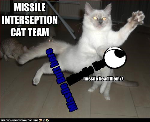 Missile Here Missile Butt here missile head their /\ MISSILE INTERSEPTIONCAT TEAM