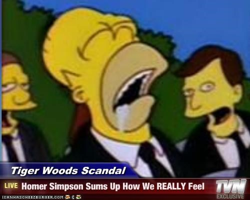 animation boring cartoons homer simpson sex scandals the simpsons Tiger Woods - 3009999616
