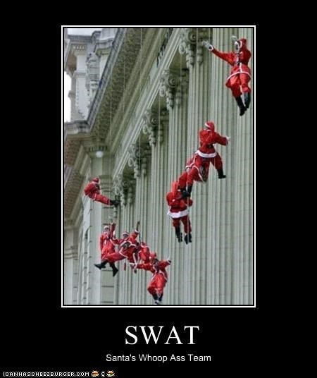 santa claus,swat team,wtf