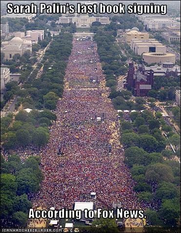 books crowd fox news huge rally Sarah Palin - 3016692736