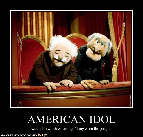 American Idol,judges,muppets,Music,reality tv,Statler and Waldorf