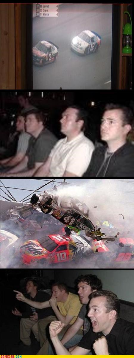 crashes,nascar,reaction guys