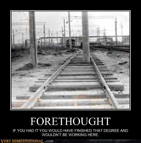 railroad forethought tracks think