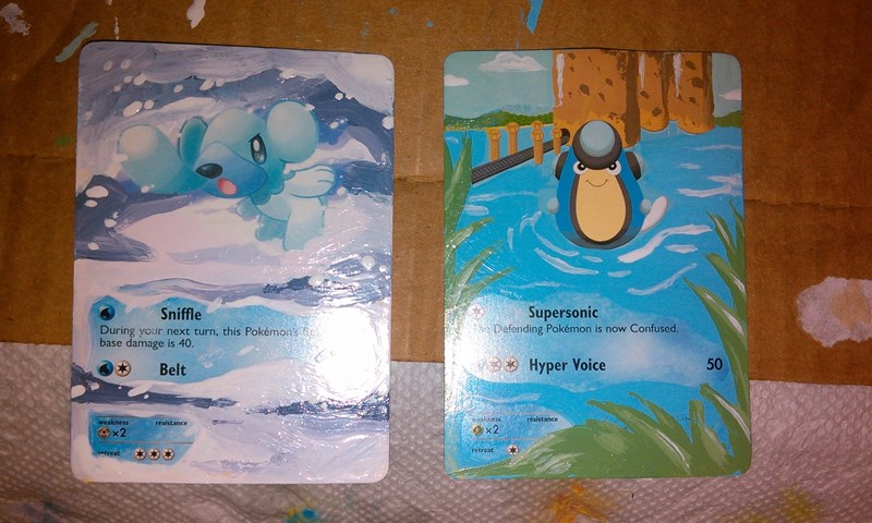 pokemon card repainted