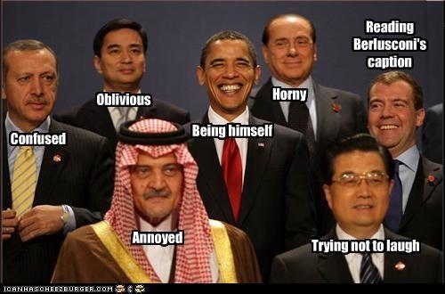 Abhisit Vejjajiva barack obama democrats Dmitry Medvedev g-20 Hu Jintao president prime minister Prince Saud Al Faisal of Saudi Arabia read Recep Tayyip Erdoğan royalty silvio berlusconi Turkey - 3022312704