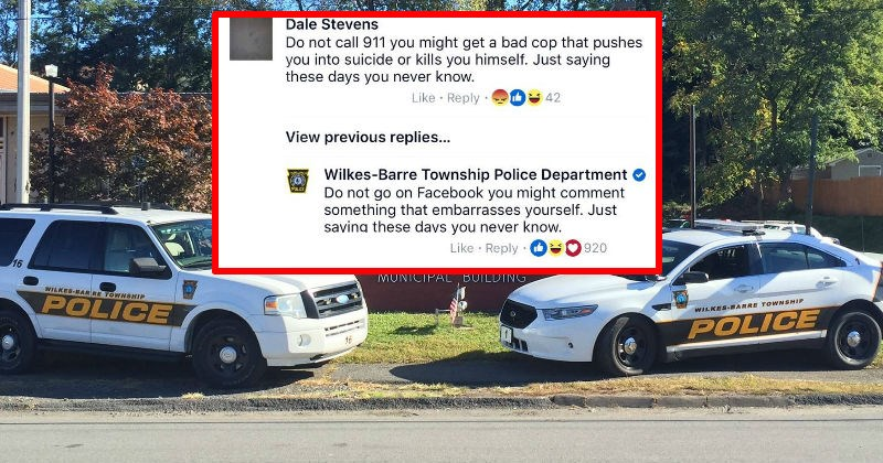 Smalltown police department is trolling their Facebook page's comments section, and it's hilarious.