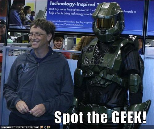 Bill Gates geek master chief microsoft nerds