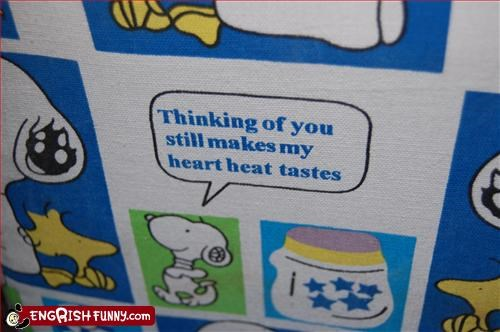 g rated,heart,Heat,snoopy,taste,thinking