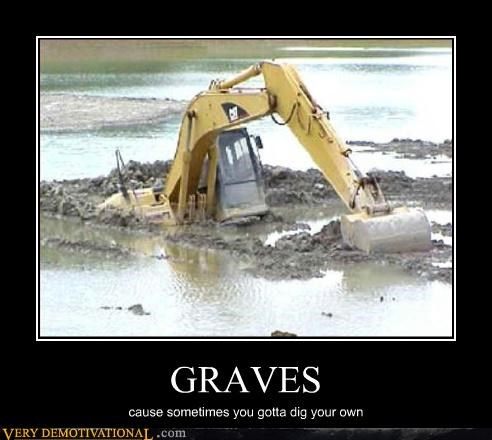 backhoe digging graves - 3027015424