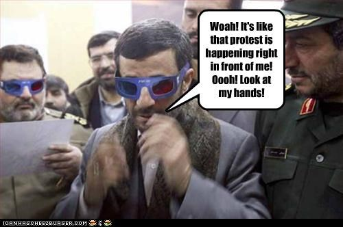 3-d glasses iran Mahmoud Ahmadinejad president theocracy - 3027195648