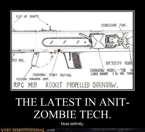 chainsaw apocalypse gun zombie - 3028938240