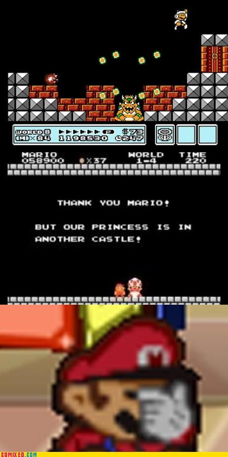 facepalm mario the Princess video games - 3029114368
