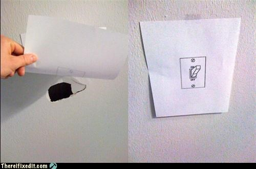 cover up,hole in the wall,office upkeep